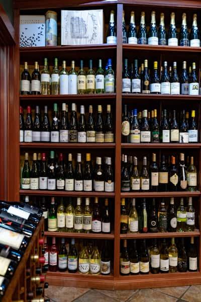 white riesling wine shelf