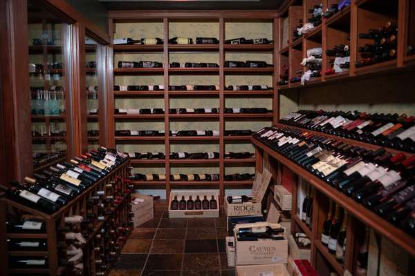 ca wall of wine bottles