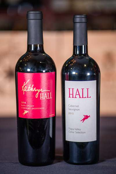 hall wine bottles