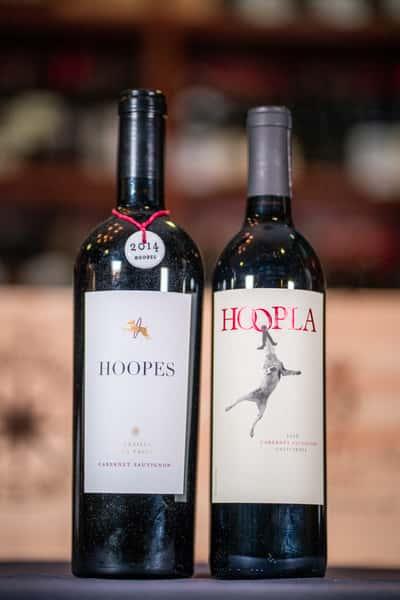 ca hoops wine bottles