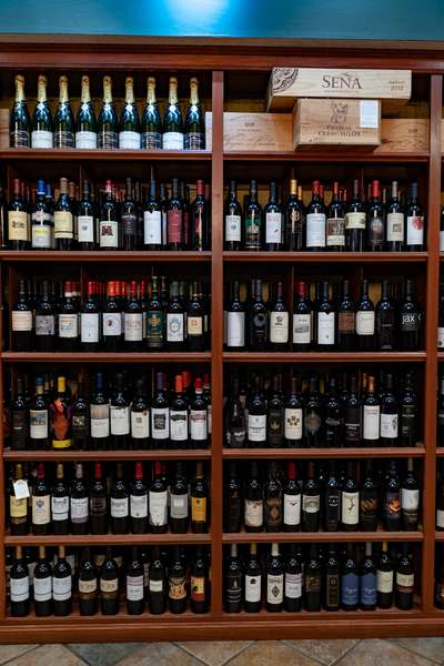 merlot cabinet wine bottles