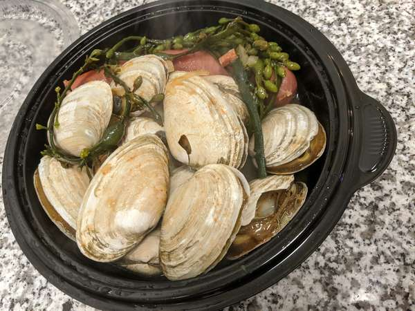 1 lb steamers with butter & lemon