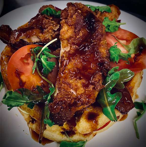 BLT Chicken and Waffles