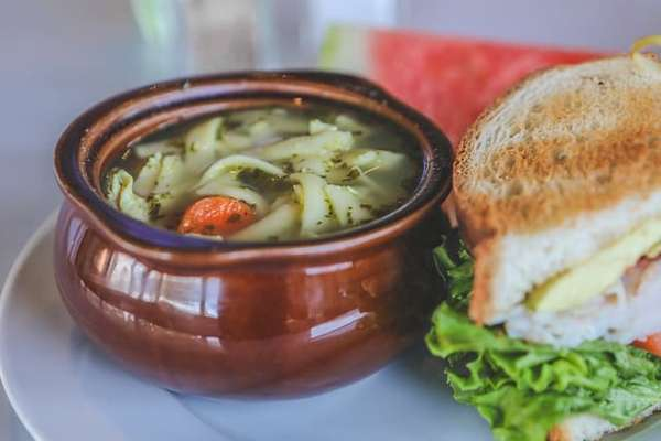 soup and 1/2 sandwich