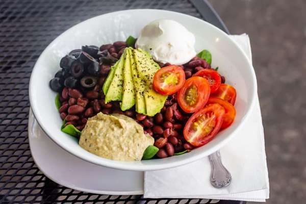 beans and rice bowl