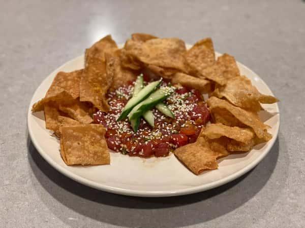 Tuna Poke and Chips