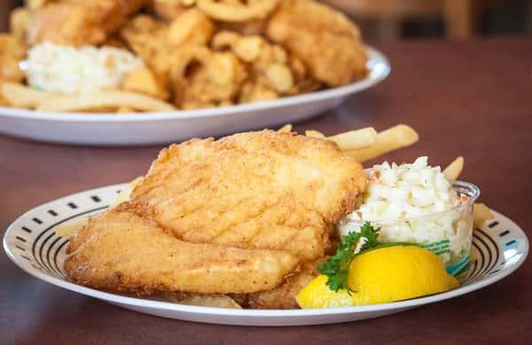 Fried Atlantic Haddock Platter