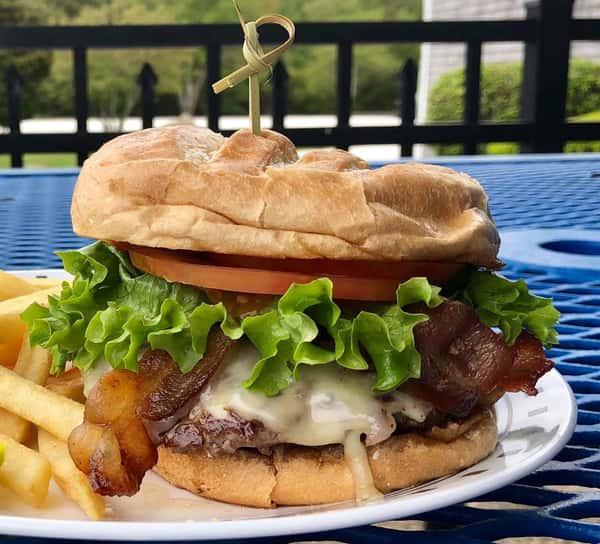"Sam's Open-Faced ""Better Pub Burger"""