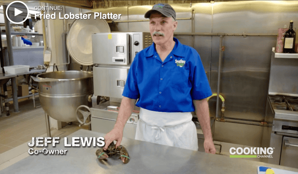 """Sam's fried lobster platter is featured in Cooking Channel TV show """"The Best Thing I Ever Ate."""""""