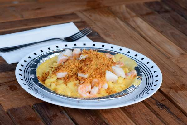 Baked Seafood Mac n' Cheese Platter
