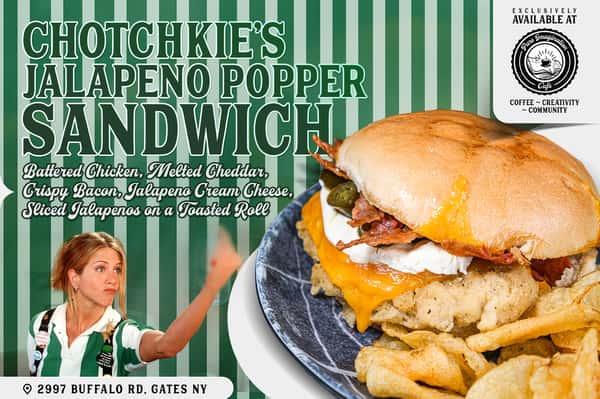 Chotchkie's Jalapeno Popper Sandwich