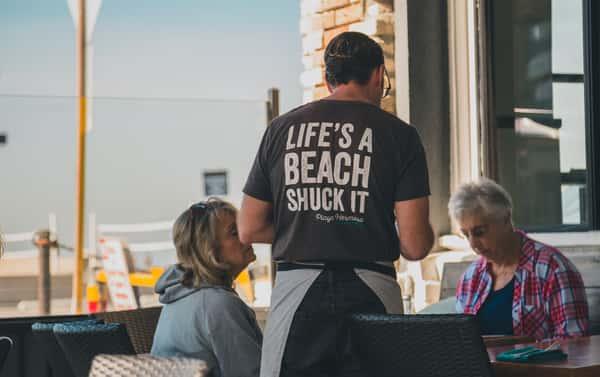 life's a beach shuck it shirt
