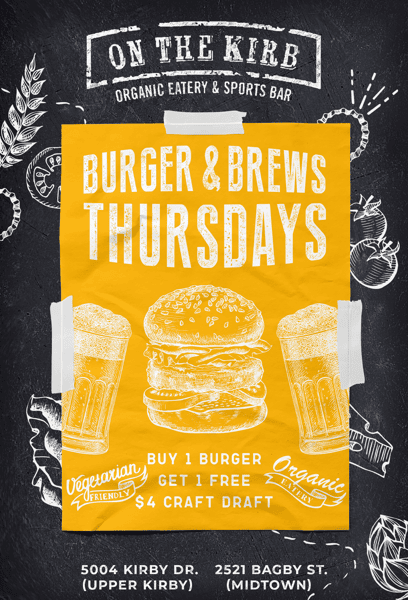 Thursday   Burgers & Brews