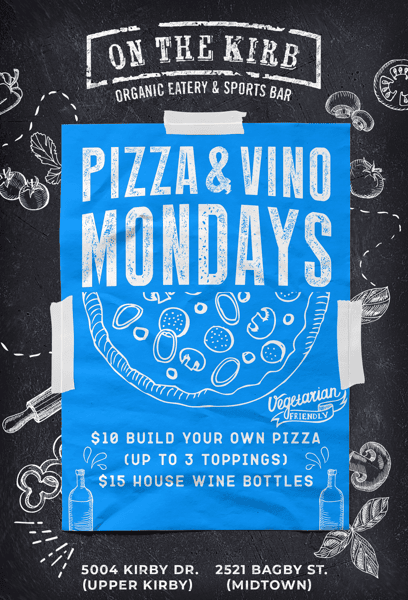 Monday   Pizza & Vino
