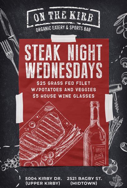 Wednesday   Steak Night