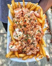 Seafood Topped Fries