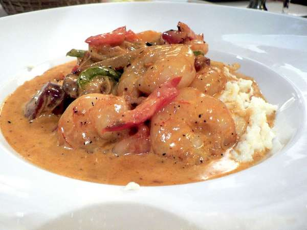 Smothered Shrimp Dinner