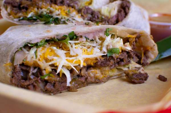 Steak or Chicken Burrito