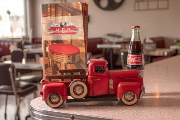 Brant Rock Hop menu inside fire truck ornament
