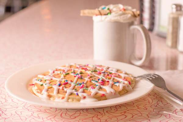 Borthday pancakes
