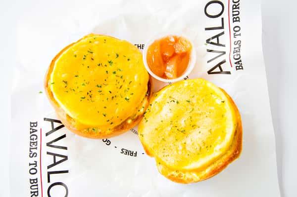 egg and cheddar melt