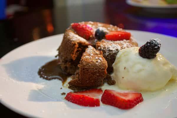 Chocolate Flowing Lava Cake