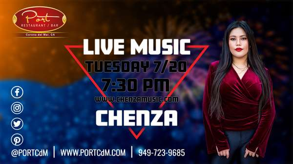 PortCdM welcomes Singer Songwriter Chenza Tuesday 7-20-2021