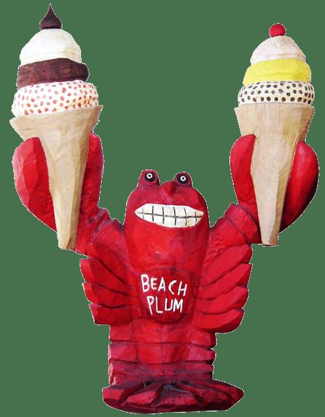 lobster holding ice cream