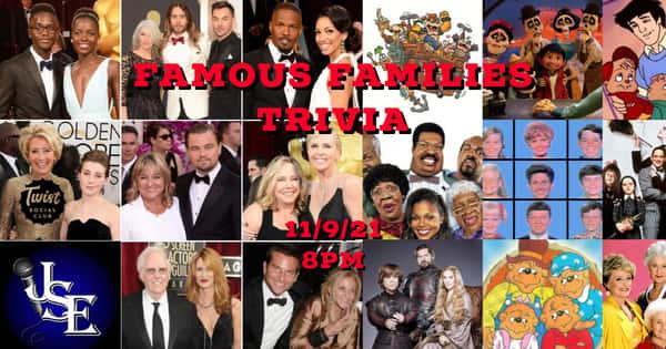 Famous Families Trivia