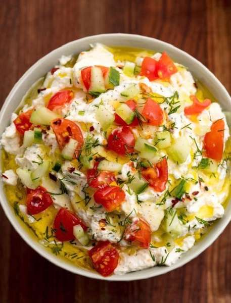 Greek Feta Vegetable Dip