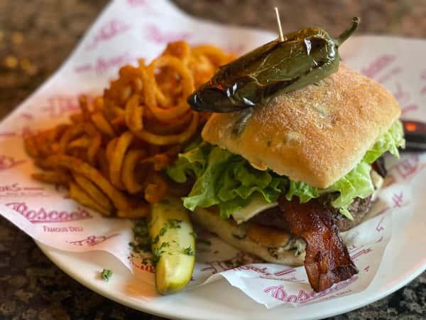"""The Phat Jack""Jalapeño Burger"