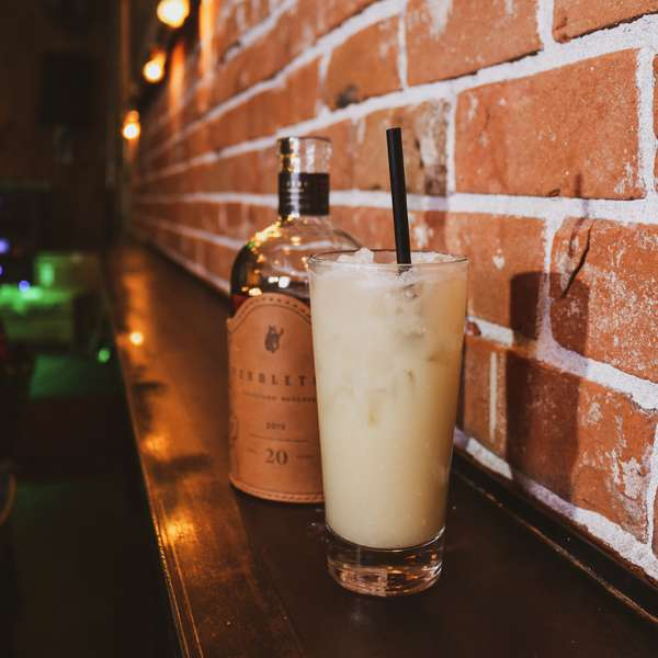 On The Rocks Whiskey Colada