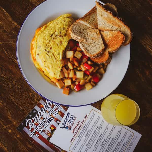 Bacon Cheddar Omelette*