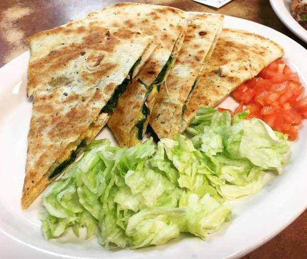 Spinach & Turkey Quesadilla