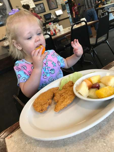 Chicken Strips with French Fries or Fruit