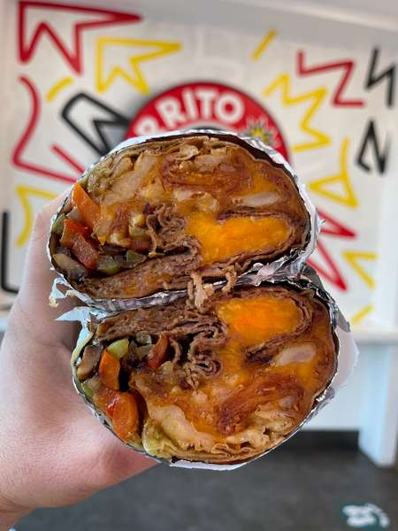 Philly Cheesesteak Burrito