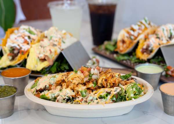 Chicken burrito salad