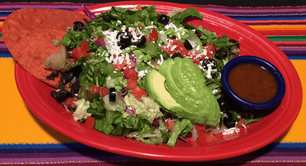 Chicken Avocado and Black Bean Tostada