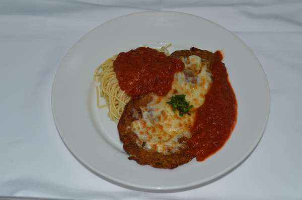 CHICKEN, EGGPLANT OR VEAL PARMESAN