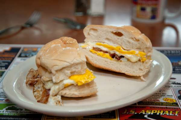 2 Egg Sandwich with Meat and Cheese