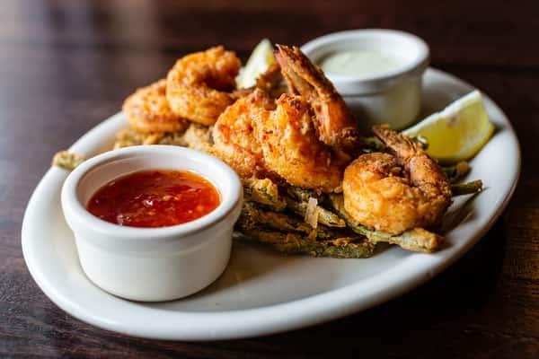 fried shrimp and asparagus