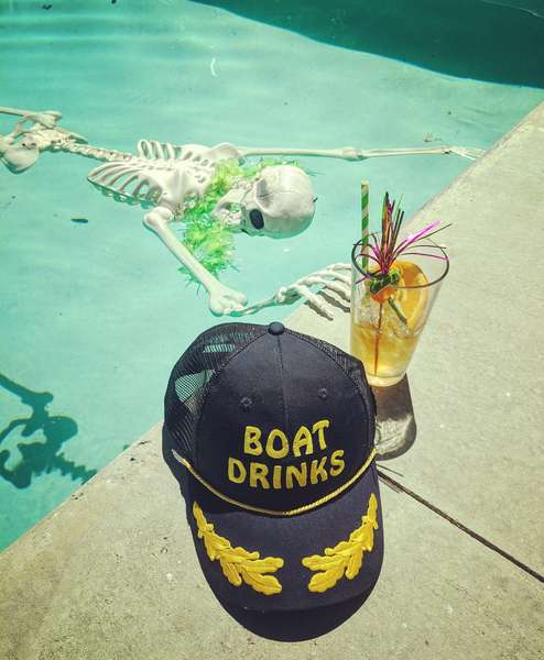 Pool Skeleton Hat