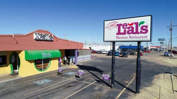 outside Leal's restaurant