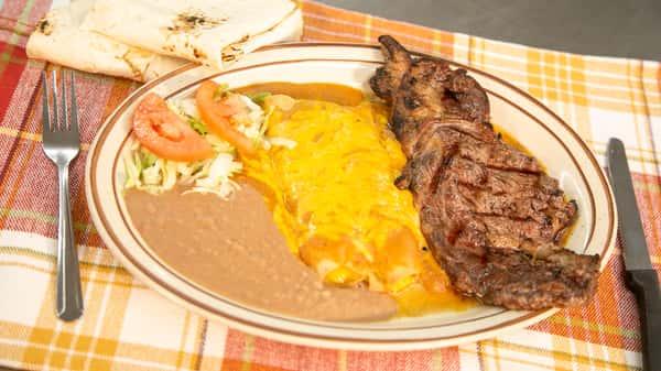 Steak & Enchilada Plate