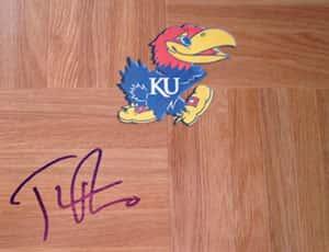 KU signed floor