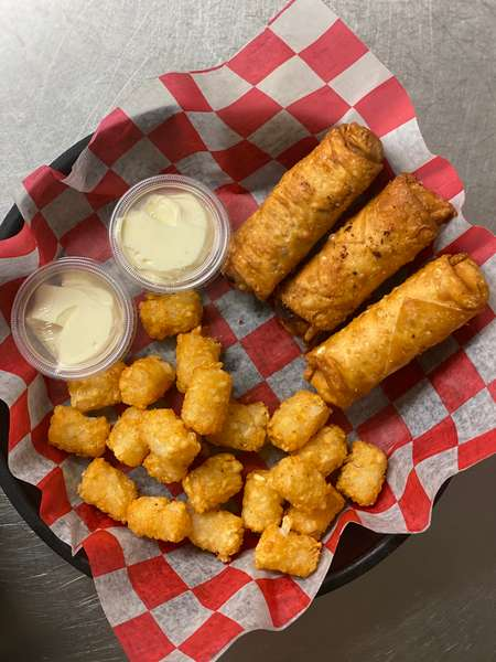 Philly Steak And Cheese Eggroll Basket