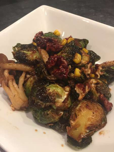 Honey Ginger Brussel Sprouts