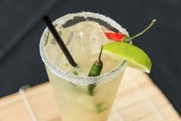 Spicy lemon grass margarita