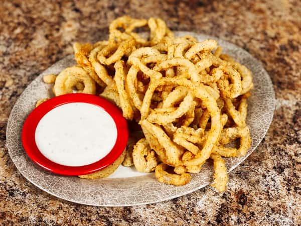 Fresh Fried Onion Straws Appetizer