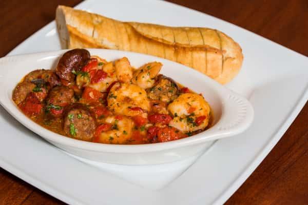 Garlic Shrimp & Sausage Sauté